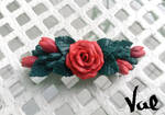 Rose hair clip by Valkyrie-21