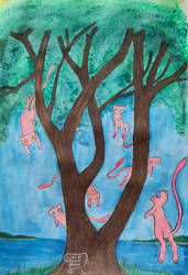 Mew Family Tree by DemonMew