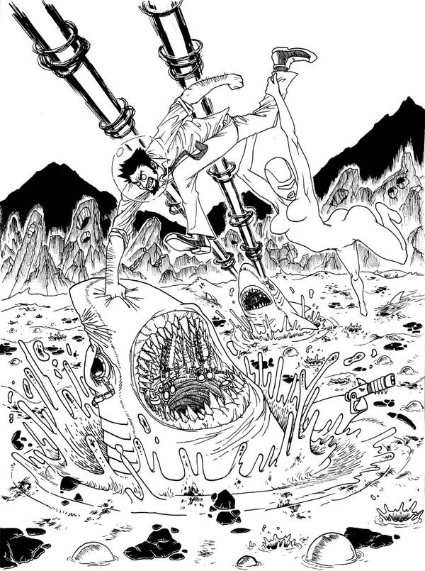 Line Art Universe : Space awesome lineart by felipechoque on deviantart