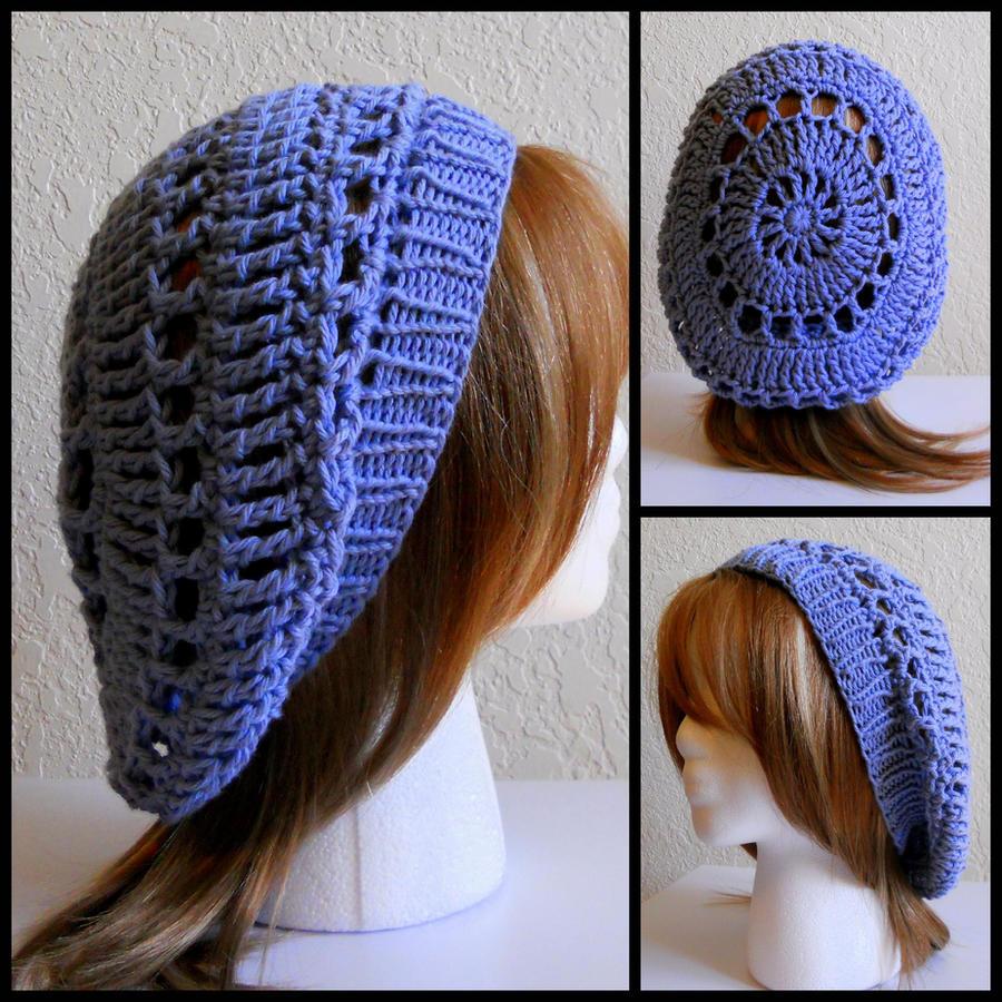 Free Crochet Pattern For Hat Band : Crochet Blue Hat w Knit Band by StrangeKnits on DeviantArt