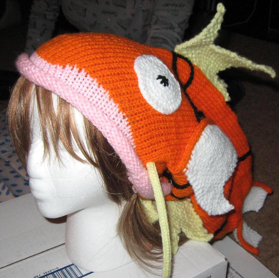 Magikarp Hat by StrangeKnits