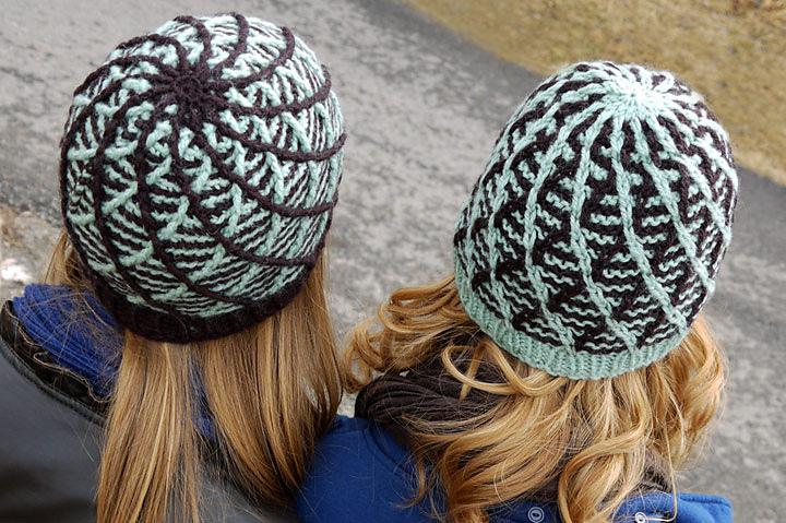 Cross Threaded Knit/Crochet Beanies for Tangled! by StrangeKnits