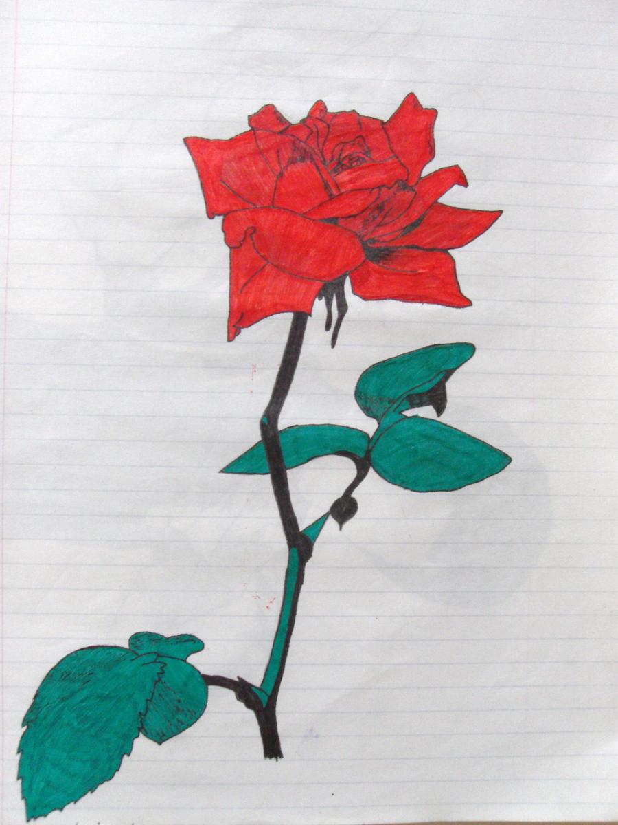 Long stem rose by ledhead02 on deviantart for Long stem rose tattoo
