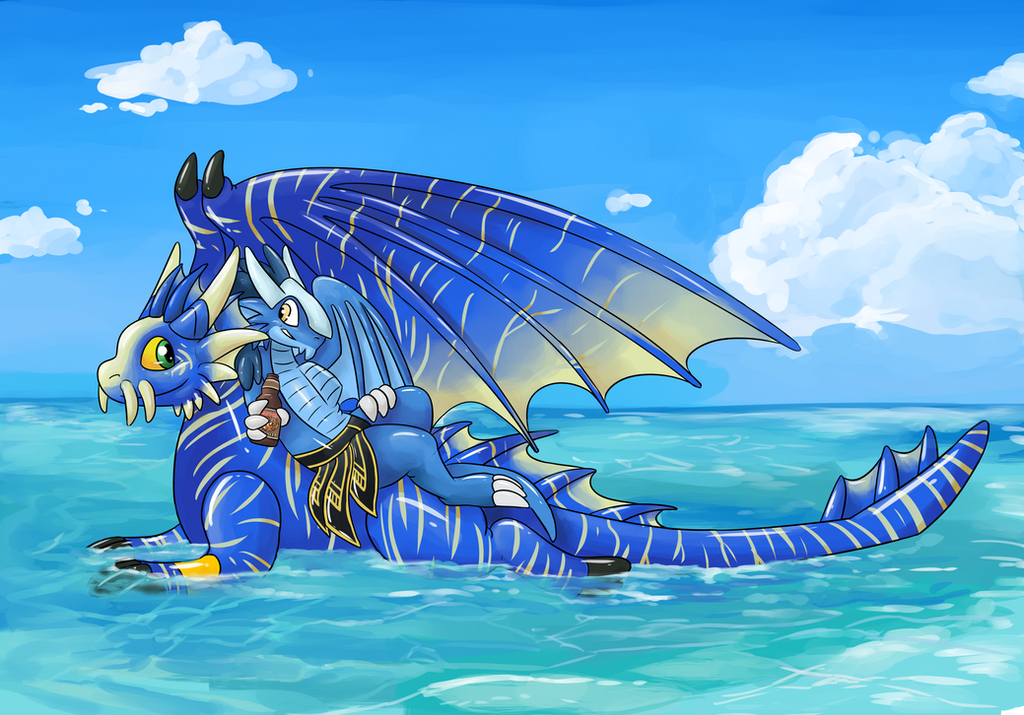 Squeaky Dergs Lounging on the Sea (Eltha) by CurusKeel