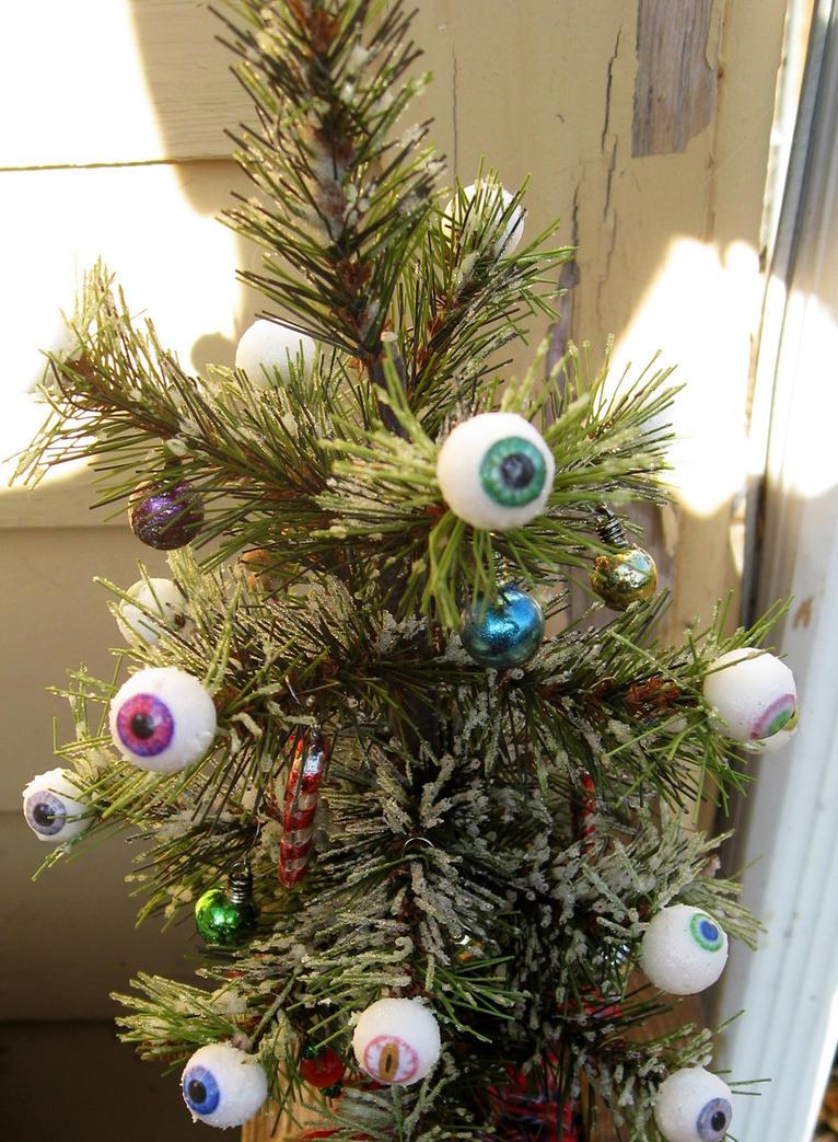 Eyeball christmas ornaments - Snowball Eyeball Christmas Tree By Jwraither