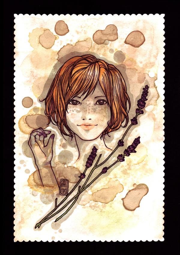 lavender girl by git2
