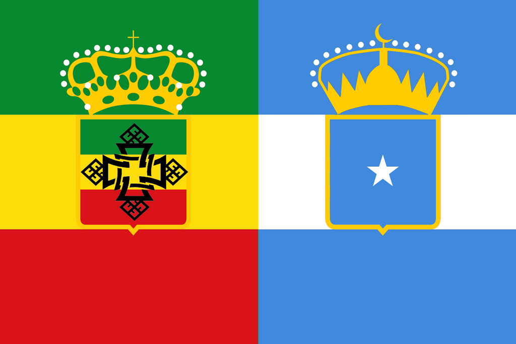 Ethiopia-Somalia in the style of Austria-Hungary by