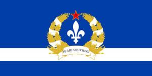 Flag of the Socialist Republic of Quebec