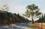 Atacalco Road - Watercolor Painting by sebasteuoLA