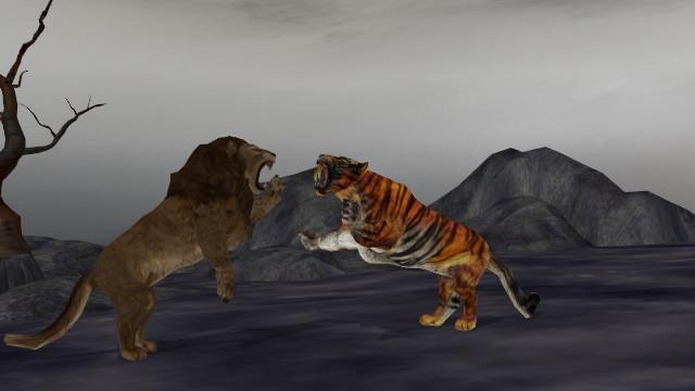 Simba vs Shere Khan by Kaijudino1235