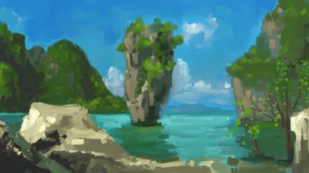 Ko Tapu Thailand Quickpaint