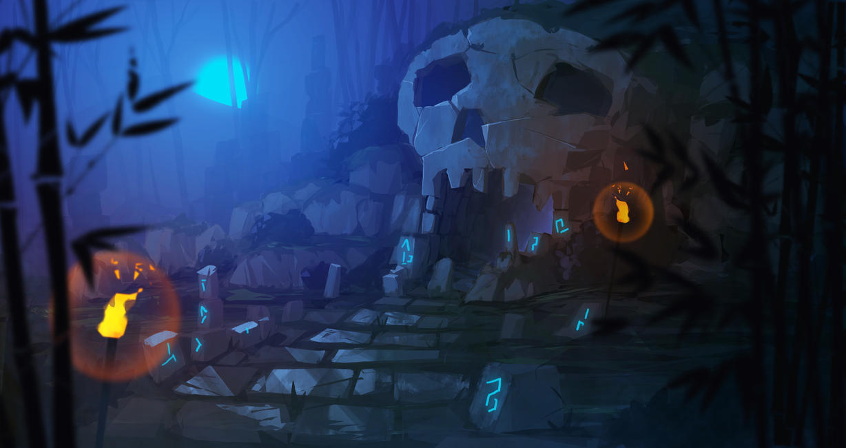 Scary Skull Cave by MattJWood