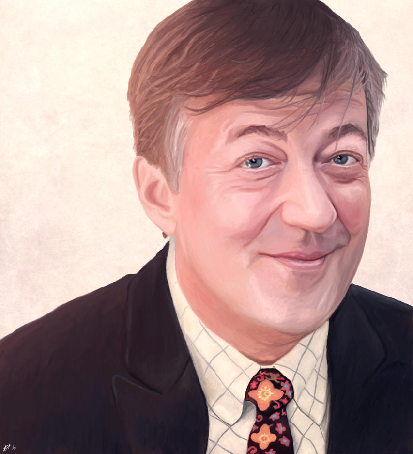 Portrait of Stephen Fry by blue-jaryn