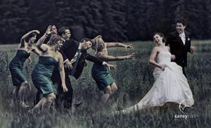 Zombie attack wedding