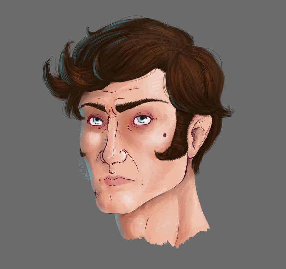 Painting Practice with Reaver's Face by Albel-is-MINE