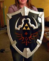 Life Sized Legend of Zelda Shield by Louness26