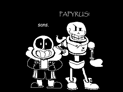 sans. And PAPYRUS! (My Style) by JustinCalhoun