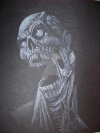 Zombie Head by LostInTwilight