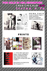 Doujinshi and Print List for AFA Singapore
