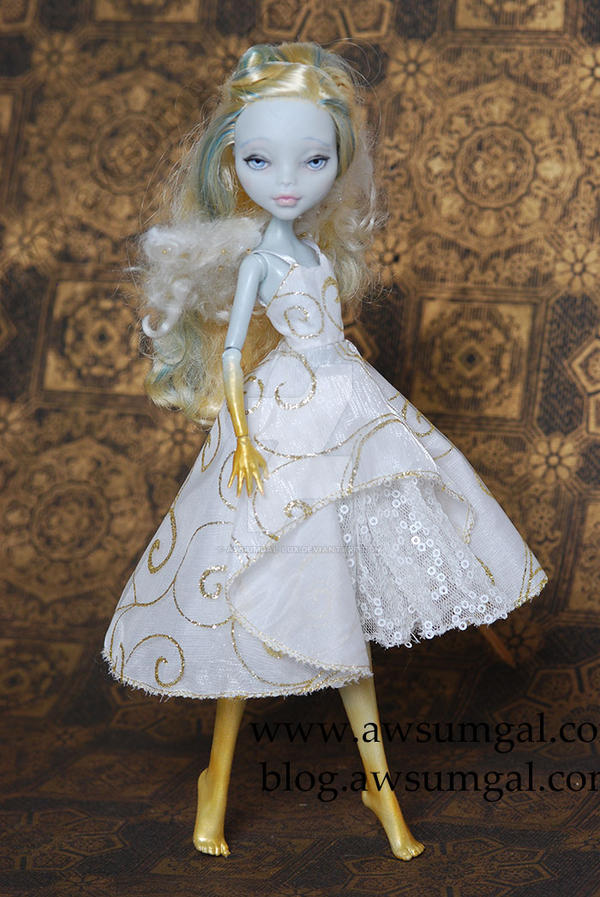 ~Angel!~  Custom Lagoona Monster High Altered Doll by awsumgal-Lux
