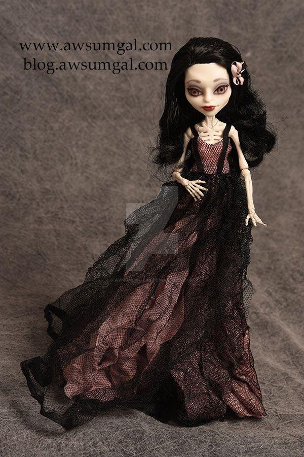 Marisol Skelita custom Monster High by awsumgal by awsumgal-Lux