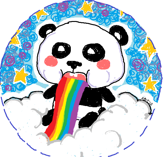 Panda Puking Rainbow by p0ching-ching on DeviantArt