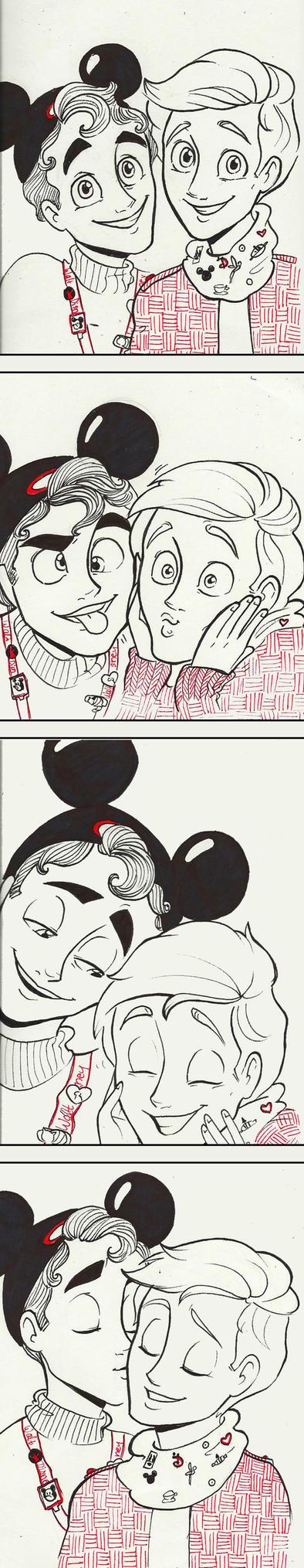 Klaine at Disneyland by Muchacha10