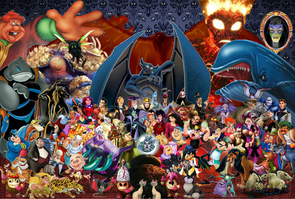 Disney Villains Wallpaper With Moana S Villains By Symonthebunny83 On Deviantart