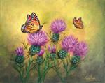 Monarchs On Thistles