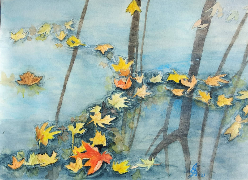 Autumn on Water by Lotus105