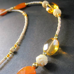 Summer Rose Eyeglass Chain by Gilliauna