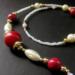 Raspberries and Cream Lanyard by Gilliauna