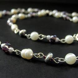 Purple Glass and Pearl by Gilliauna