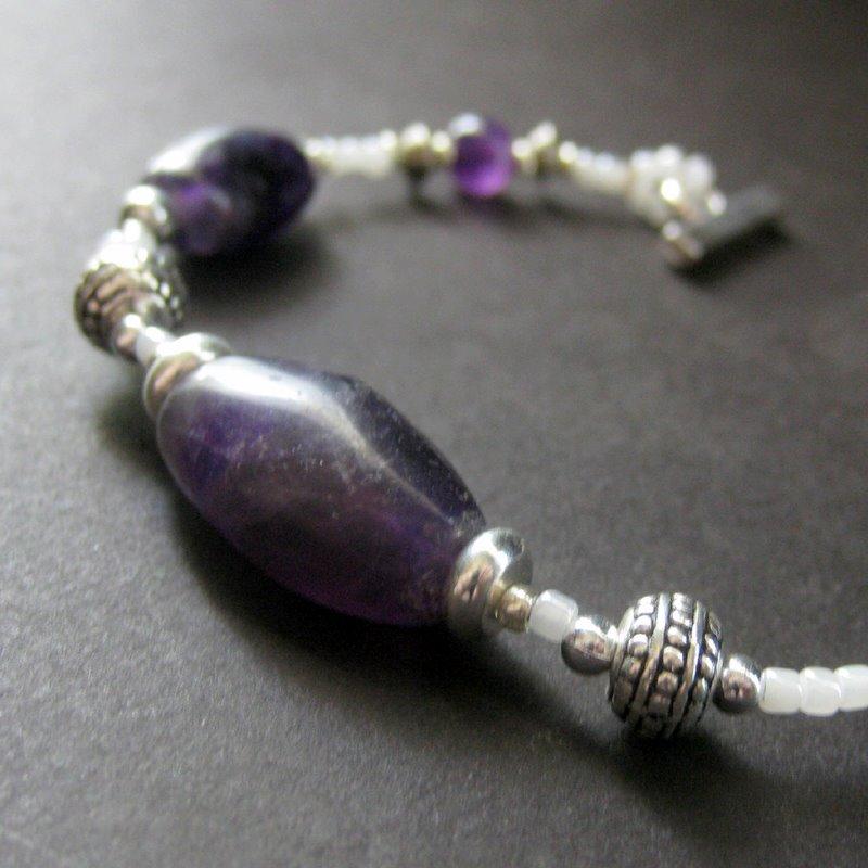 Mystic Touch Amethyst Bracelet by Gilliauna