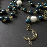 Night Sky Necklace in Pearls
