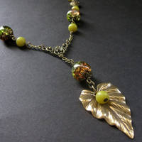 Nature Inspired Jade Necklace by Gilliauna