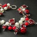 Lovely Ladybugs Charm Bracelet