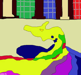 Paint Dragon from The Pagemaster. by Jules2005