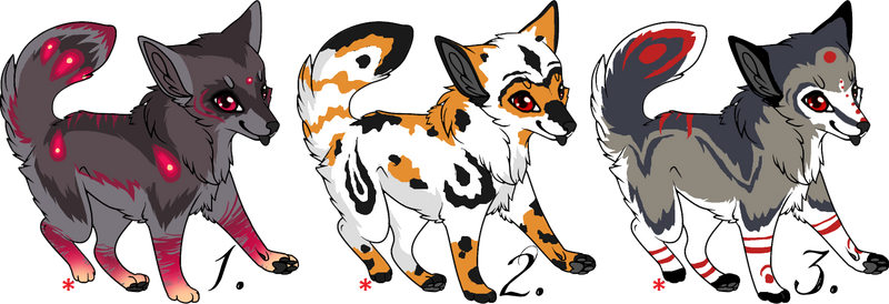 + Canine Adoptables 1 - CLOSED + by Aisuruu-Adopts