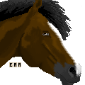 Pixel Horse head- Bay. by equine-aspire-art