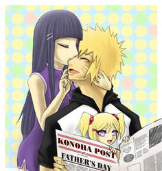 A buss for Daddy - Naruhina by oLdBrEaD7