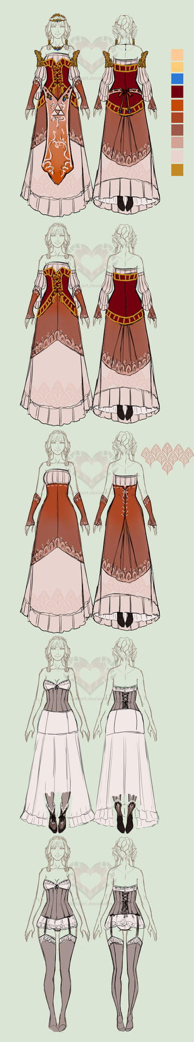 Zelda AUD: Princess Zelda layers doodle by Split-Heart