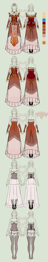 Zelda AUD: Princess Zelda layers doodle