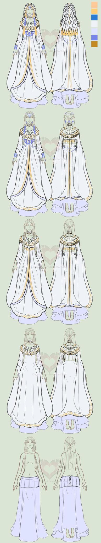 Zelda AUD: Goddess Hylia layers doodle by Split-Heart