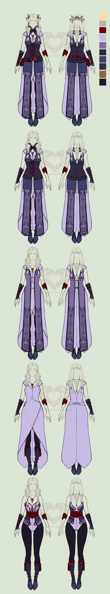 Zelda AUD: OC Esila layers doodle by Split-Heart
