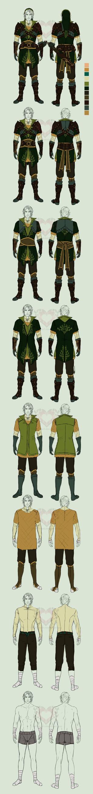 Zelda AUD: Link the Hero layers doodle