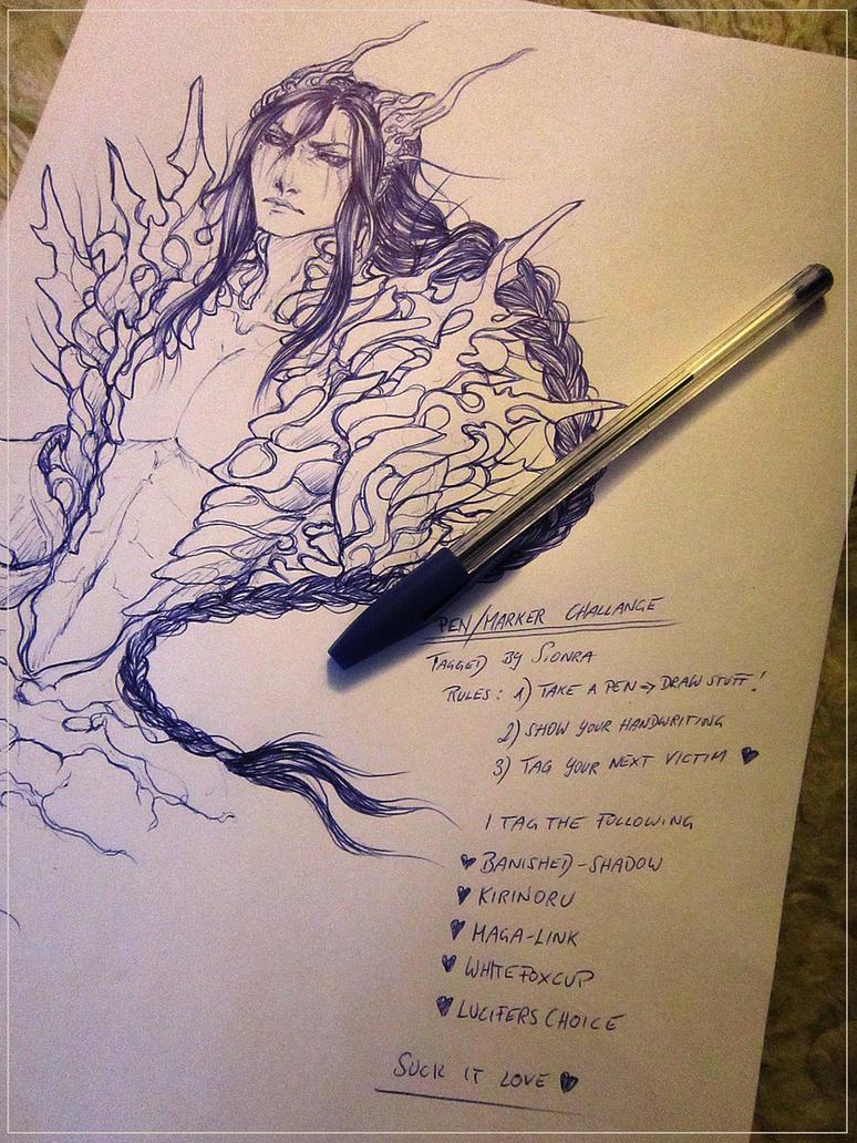 Pen-Marker Challange by Split-Heart