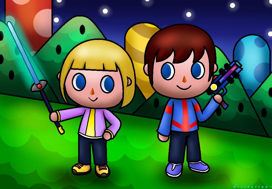 PC-Animal Crossing Hayley and Max::. by Misskatt66