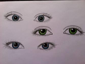 eye study by dolugecat
