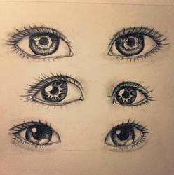 Realistic Eye Sketch by dolugecat